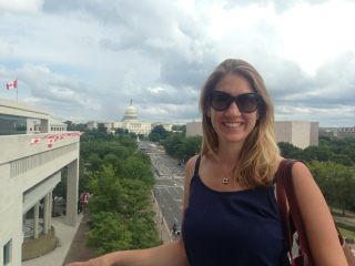 At the Newseum in Washington, DC.